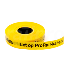 "Tape ""Let op ProRail kabels"",40mmx250m"